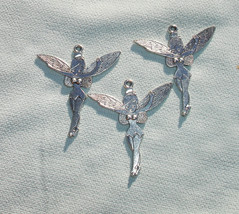 Extra Large Fairy Charms Pendants - Jewelry Making Supplies - 3 pcs - $1.30