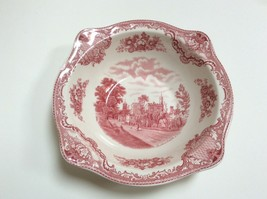 Johnson Brothers Pink Old Britain Castles Round Vegetable Serving Bowl Crown  - $19.78