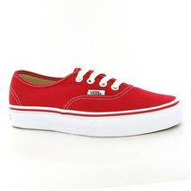 VANS Unisex Authentic Red Canvas VN000EE3RED Mens 6.5, Womens 8 - $43.75