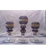 3pc. Black & Gold  Candleholder - $78.09