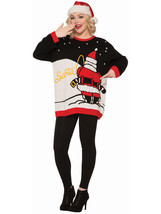 Forum Men's Ugly Christmas Sweater, Santa's Pee Break, Black/red, Large - $51.53