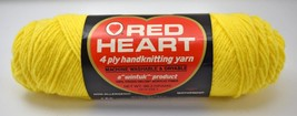 Vintage Red Heart Wintuk Orlon Acrylic 4 Ply Worsted Yarn - 1 Skein Yellow #230 - $8.50