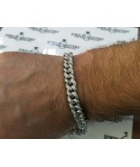 Men's Real Diamond Miami Cuban Link Bracelet 1 CT 9mm 10k White Solid Go... - $2,470.05