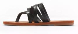 NEW Universal Thread Women's Black Maritza Multi Strap Toe Slide Sandals image 2