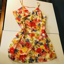 Contemporary NWT Forever 21 Yellow red floral  Flowers cami Mini Slip dress - $14.85