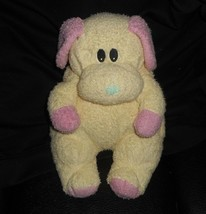 Ty 1999 Dogbaby Baby Puppy Dog Yellow Rattle Stuffed Animal Plush Toy Soft Lovey - $25.76