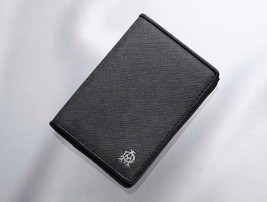 Dunhill Windsor Leather Business Card Card Case Charcoal Gray C0118 Genuine - $179.16