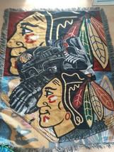 Chicago Blackhawks Tapestry Blanket Throw Northwest Hockey Sports Decor NHL - $32.62