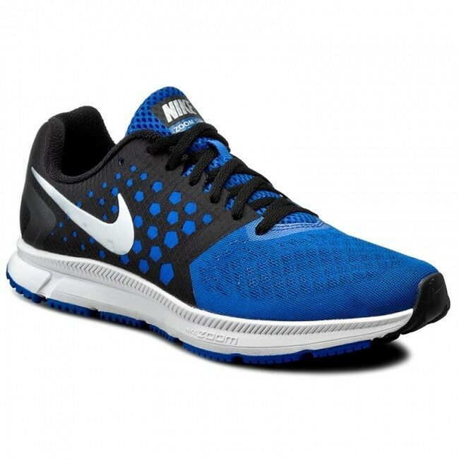 Primary image for MEN'S NIKE ZOOM SPAN SHOES black silver cobalt blue 852437 004 MSRP $100