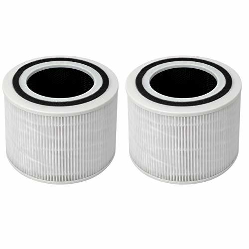 Fette Filter - Air Purifier True HEPA Filters Compatible with LEVOIT Core 300 Ai