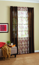 Mainstays Luna Curtain Panel Brown, 4 Piece Set: 2 Voile & 2 Solid Panels - $19.79
