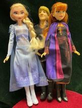 "Elsa~Anna~Kristoff~Disney~Frozen 2~Hasbro~11"" H~Lot of 3 Dolls~Complete ... - $28.04"