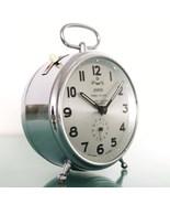 WEHRLE Clock CHROME NEAR MINT Three In One STRIKING Alarm Mantel Vintage... - $995.00