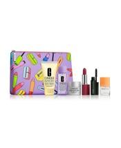 Clinique 7 Piece Set Mascara Remover Happy Love Pop Lip Smart Night Bag DD+ - $22.02