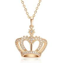 Full Zircons Crown Pendant - $10.88