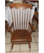 Solid Maple Mid Century Rocker / Rocking Chair by Nichols & Stone - $399.00