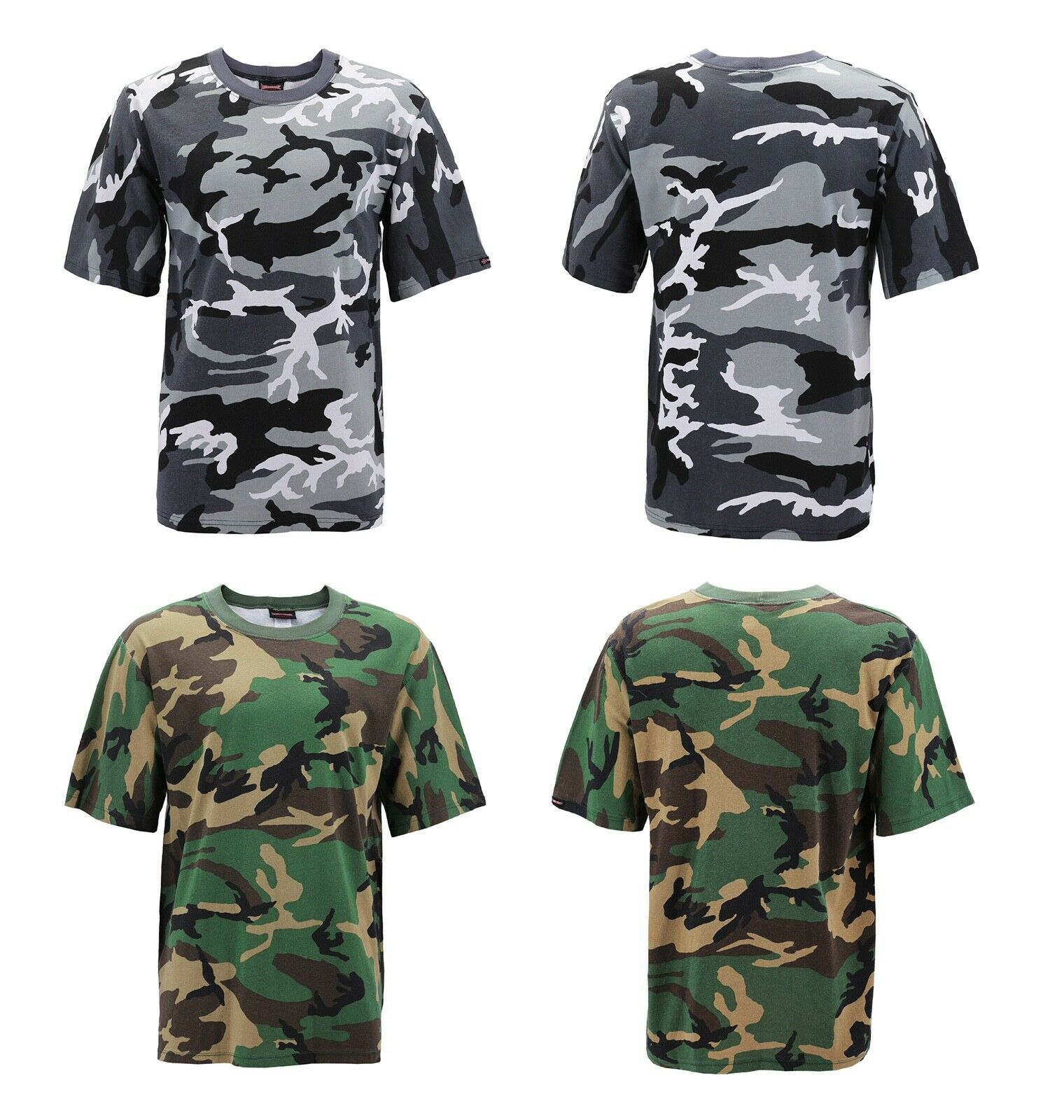 Men's Made in USA Crewneck Camo 100% Cotton Shirt Lightweight Army T-shirt