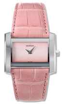 BRAND NEW MOVADO 0605309 ELIRO PINK ALLIGATOR STRAP SILVER CASE WOMEN'S ... - $296.99