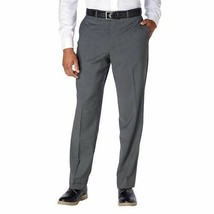 NWT Kirkland Signature Men's Wool Flat Front Dress Pants Slacks GRAY
