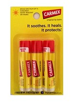 Carmex Classic Lip Balm SPF 15 Lip Protectant, 0.15 Ounce Pack of 3 Stic... - $9.67