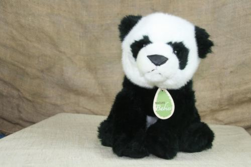 Aurora World Nature Babies Plush Panda Stuffed Animal With Neck Tag