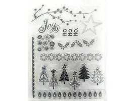 Christmas Borders and Icons Clear Stamp Set