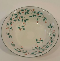 Ming Pao Holly Lace Christmas Berry Soup Cereal Bowl 6.5 inches EUC (3 A... - $2.99