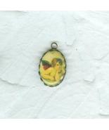 2 Raphael Angel Cherub Pendants Framed Ready To Wear Jewelry Tiny Ornaments - $6.99