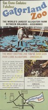 Vintage Travel Brochure See Owen Godwins Fabulous Gatorland Zoo Kissimme... - $19.55