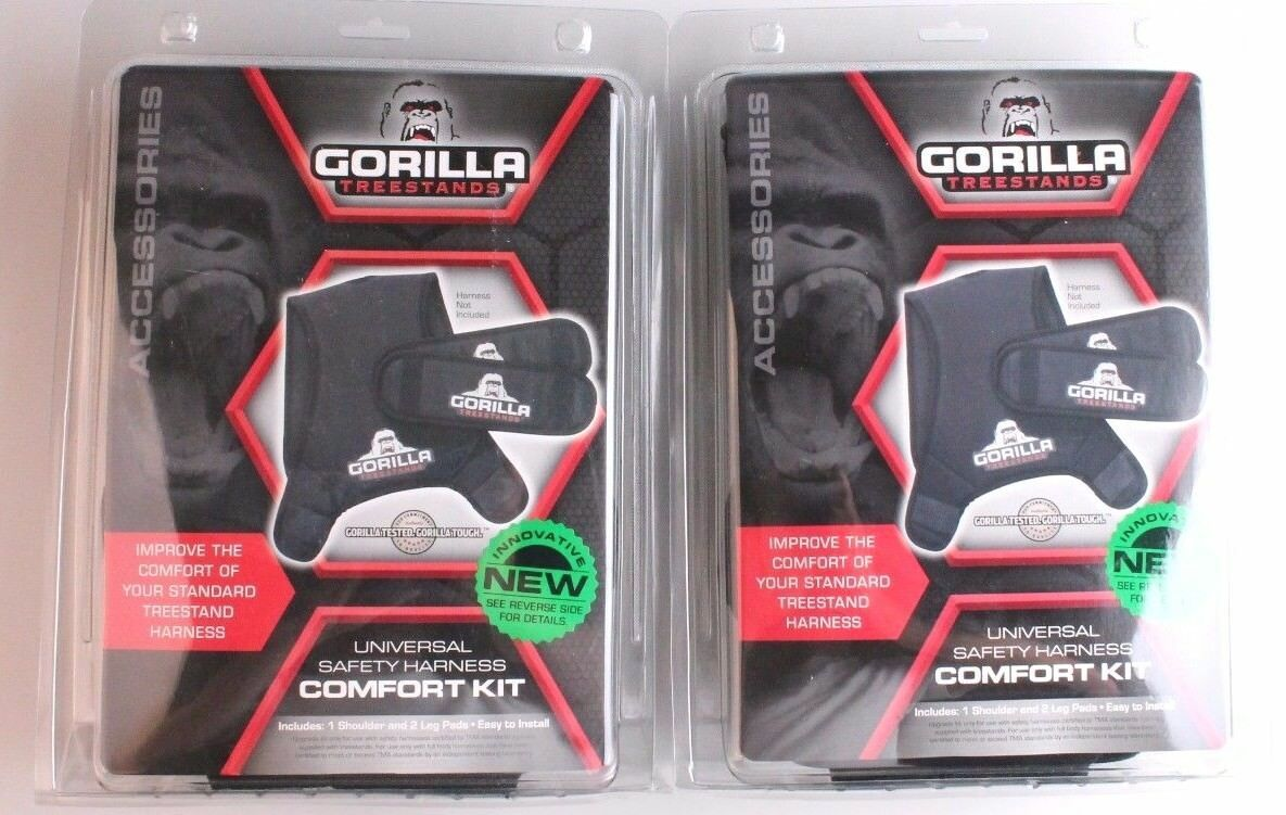 Lot of Two Universal Safety Harness Comfort Kit Gorilla Treestands Tree Hunting