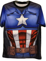 Marvel Avengers Captain America T-shirt Mens Size Small Character Hallow... - £15.35 GBP