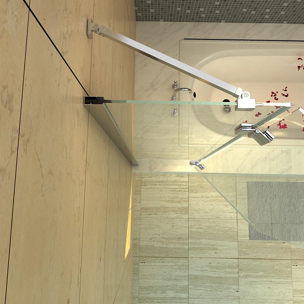 Luxury Frameless Glass Tub Door Neo Angle Shower Enclosure Bathtub Shower Door