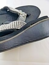 Flops SZ with VOLATILE 7 Flip rhinestones Wedge Black HA7qE