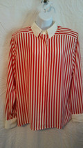 NWT Liz Claiborne White Striped Long Sleeve Button Up Shirt Women's SIZ... - $6.44