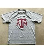 Texas A&M Aggies Under Armour T-Shirt Men's Small Gray  - $15.13