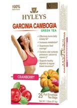Hyleys Tea 100% Natural Green Tea Garcinia Cambogia and Cranberry, 25 Teabags - $5.99