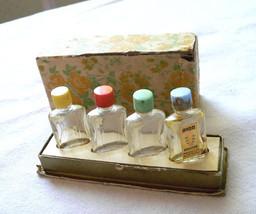 VERY RARE Avon Miniature Perfume Bottle Set with Box FAIR LADY 1939-42 era - $25.00
