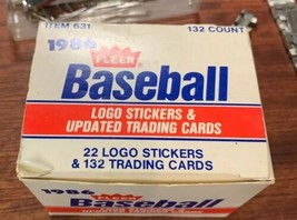 1986 Fleer Update Card Set - 132 Cards & 22 Logo Stickers - $19.60