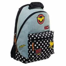 Wonder Woman Denim Patch Backpack Blue - $40.98