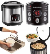 Hamilton Beach (37548) Rice Cooker, 7 Cups uncooked resulting in 14 Cook... - €48,26 EUR