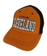 Cleveland Solid Front Air Mesh Back Adjustable Baseball Cap (Orange/Brown) - $12.95