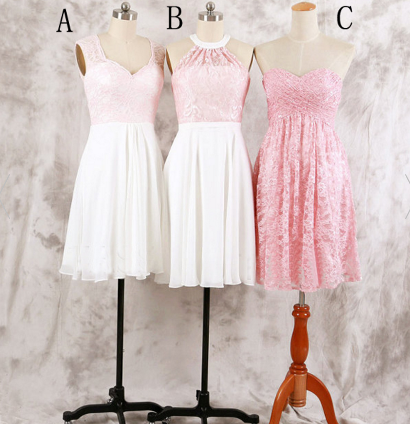 mismatched bridesmaid dress,short bridesmaid dress,pink bridesmaid dresses