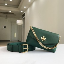 Tory Burch KIRA MIXED-MATERIALS BELT BAG Green - $255.00