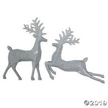 "Vickerman 6"" White Glitter Deer Ornament - 6/Box - $26.25"