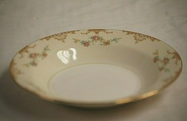 Aristocrat by Homer Laughlin Rim Soup Bowl Eggshell Nautilus Tan Border Floral - $19.79