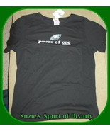 Philadelphia Eagles NFL for Her Women's Black 'Power of One' Shirt-Large - $21.73