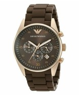 Emporio Armani Chronograph AR5890 Sportivo Brown Wrist Watch for Men - $98.90