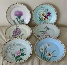"Antique 1800's Limoges Haviland Hand Painted Plates 7 7/8"" Set of 6 - $225.00"
