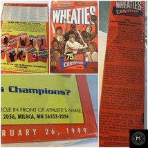 Vintage Wheaties Cereal Sport Collectors Box 1924-99 75 yrs Champions SK... - $14.53
