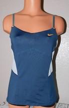 Nike Dri-Fit Women's Tank Top Elastic Blue-Gray Loose Fit Athletic Elastic Sz: M
